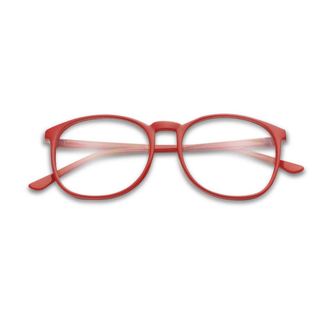 SIMPLE ROUND HALF FRAME PLASTIC GLASSES