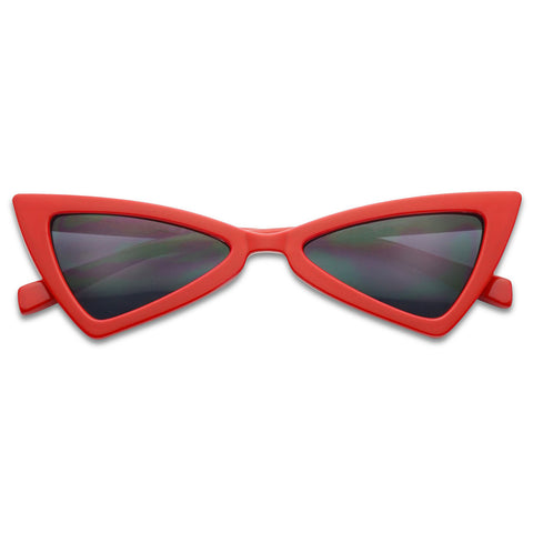 SMALL SHARP BOW-TIE EXTREME CAT EYE SUNGLASSES