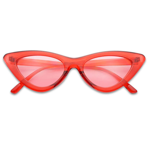 RETRO COLORED LOLITA INSPIRED CAT EYE SUNGLASSES