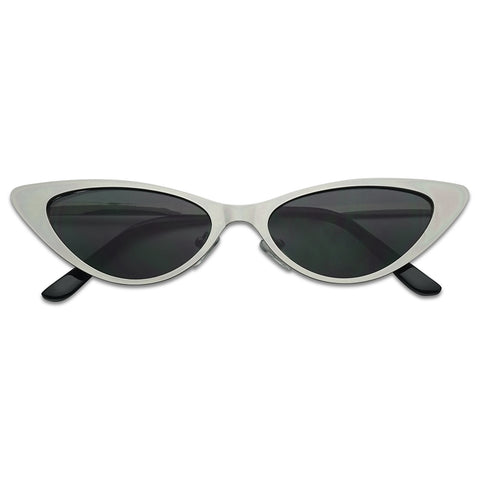 FLAT METAL EXTRA OVAL CAT EYE SUNGLASSES