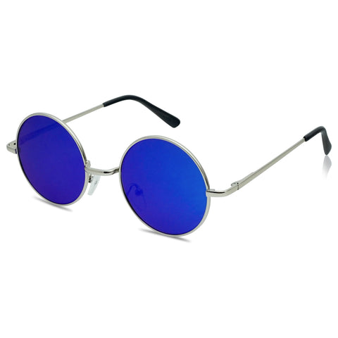 46MM SMALL MIRRORED ROUND CLASSIC SUNGLASSES