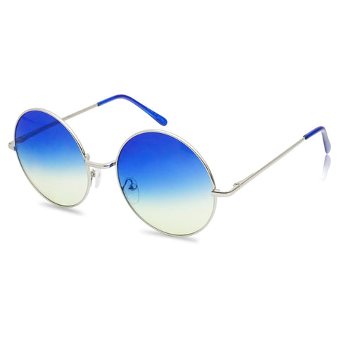 62MM HUGE HIPPIE ROUND COLORED SUNGLASSES