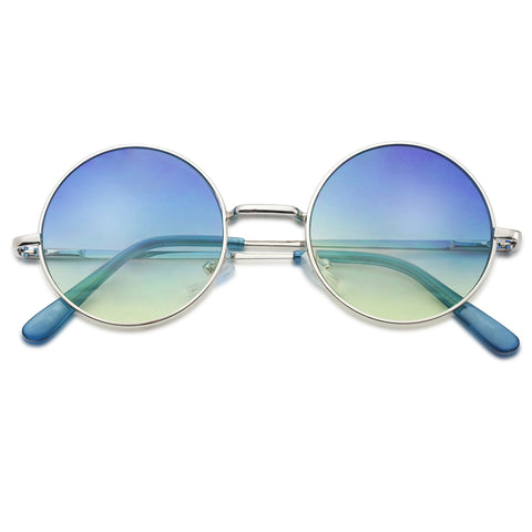 SMALL CIRCULAR ROUND SUNGLASSES 48MM