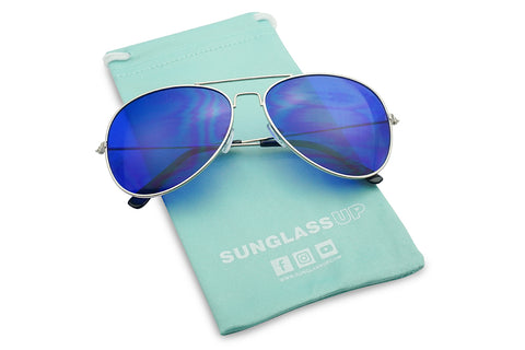 ICONIC RETRO COLOR TINT AVIATORS SUNGLASSES