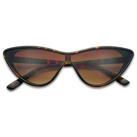 SINGLE SHIELD CAT EYE SUNGLASSES