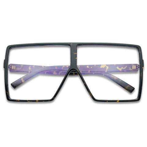 EXTREMELY LARGE SHIELD SQUARE GLASSES