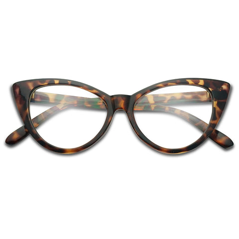 1960'S VINTAGE CAT EYE CLEAR GLASSES