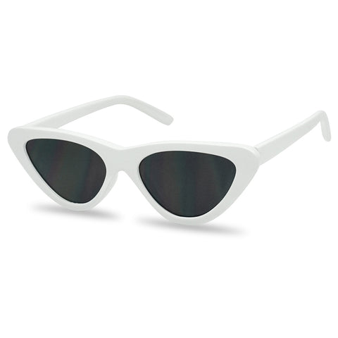 FLAT TRIANGULAR CLOUT CAT EYE SUNGLASSES