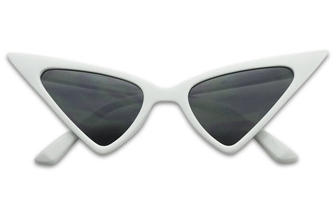 HIGH POINTED TIP TRIANGULAR CATEYE SUNGLASSES