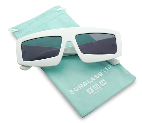 BOLD BLOCK SHIELD ACETATE SUNGLASSES