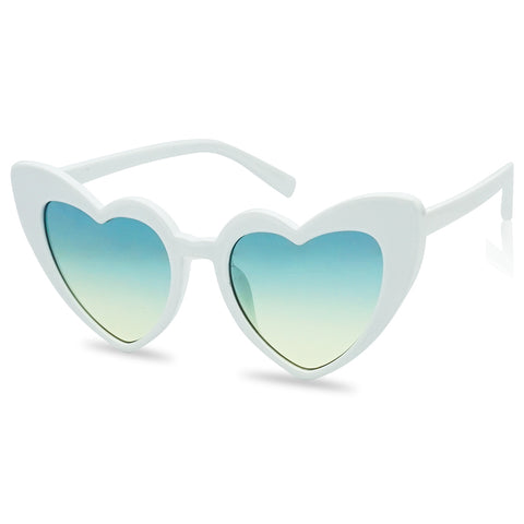 OVERSIZED HIGH POINTED TIP HEART SUNGLASSES