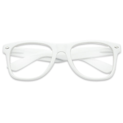 SOPHISTICATED CLASSIC HORN RIM GLASSES