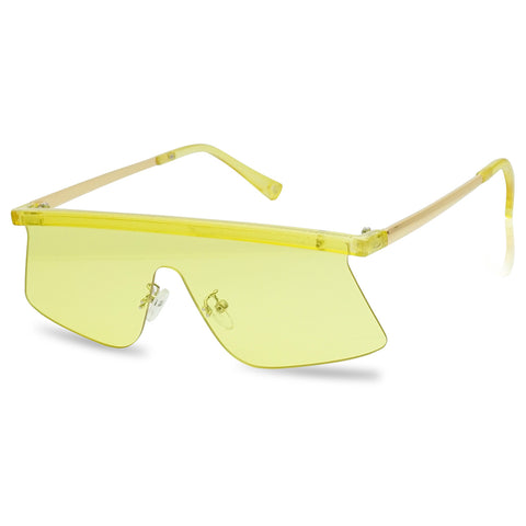 80'S RETRO FLAT TOP MONO VISOR SUNGLASSES