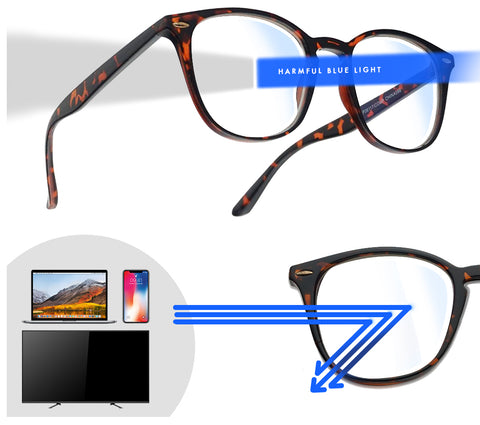 (2 FOR 1 PACK) Blue light blocking glasses for Computers, Smart phones, Video Gaming,  Television and Tablets