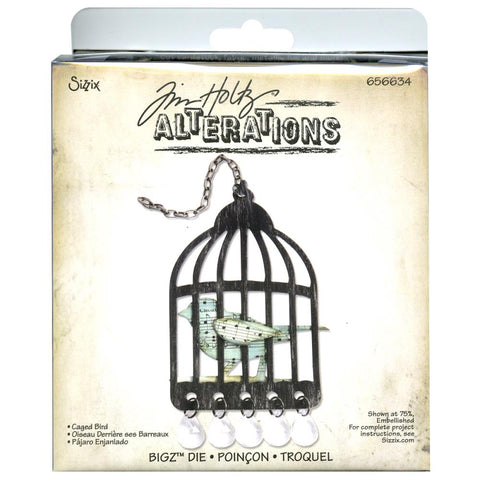 "Caged Bird Sizzix Bigz Die By Tim Holtz 5.5""X6"""