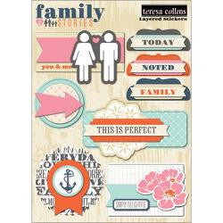 "Family Stories Layered Stickers 5""X6"" Sheet"