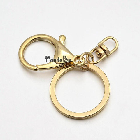 Gold Lobster Claw Keychain (3)