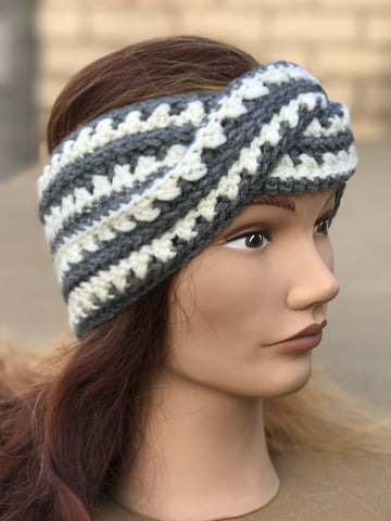 Ear Warmers-Twisted, Crocheted
