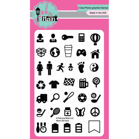 "More Life Icons Pink & Main Clear Stamps 4""X6"""