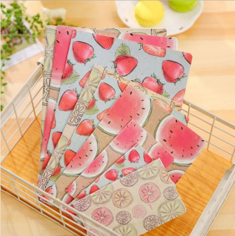 Sweet Summer Juicy Fruit Notebook Big Size:25.5*17.8cm