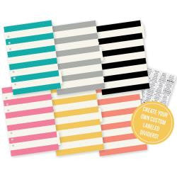 Basic Tabbed Dividers Carpe Diem A5 6/Pkg