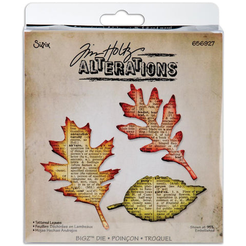 "Tattered Leaves Sizzix Bigz Die By Tim Holtz 5.5""X6"""