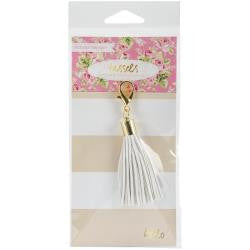 White Tassel Charm - Websters Pages