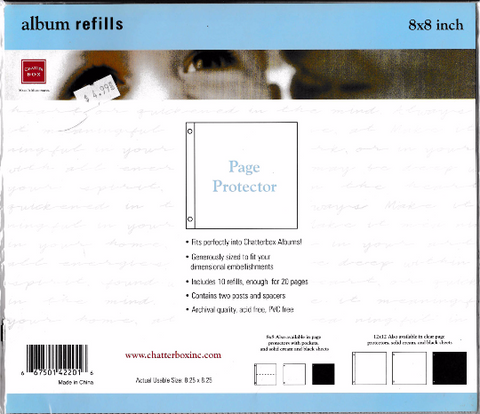 "Chatterbox 8"" x 8"" Page Protectors 10/Pkg"