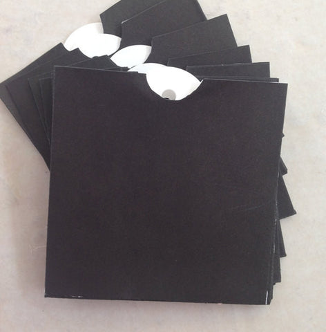 Black Envelope bags and tags by Melissa Frances