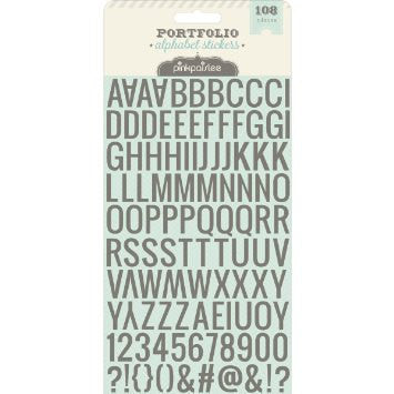 Pink Paislee - Portfolio Collection - Puffy Glitter Stickers - Alphabet  ***PRICE REDUCED!!!