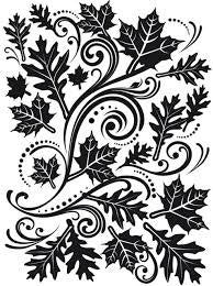 Darice Embossing Essentials - Fall Leaf Background CLEARANCE