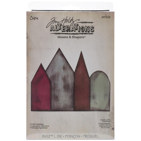 "Artful, Dwellings, Sizzix, Movers & Shapers, Base, Die, By Tim Holtz, 5.5""X6"""
