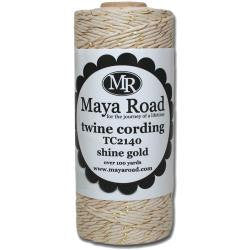 Maya Road Twine Cording Shine Gold-3 yards