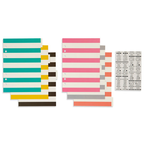Basic Dividers for Simple Stories Carpe Diem Planners