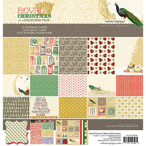 Websters Pages - Royal Christmas Collection- 12 x 12 Paper Sampler Kit