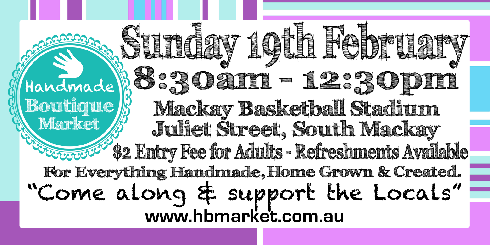 Find us at the handmade market in Mackay!!