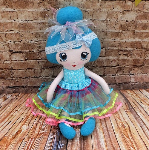 Blue Ballerina doll
