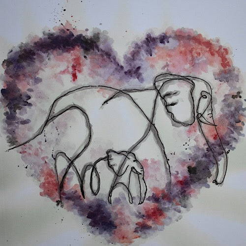 Heart You Elephant Print - Unico Art