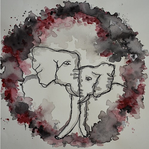 Father & Son Elephant Print - Unico Art
