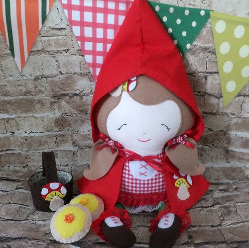 Little Red Riding Hood Ragdoll - handmade in Australia