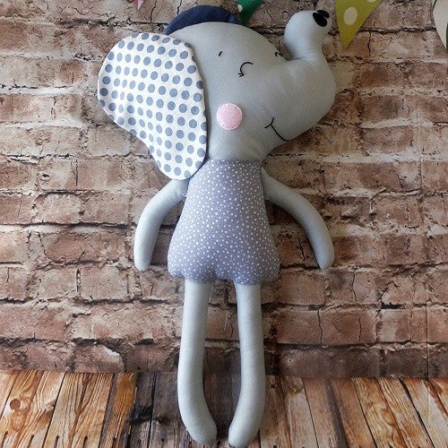 Elephant Softie - handmade in Australia
