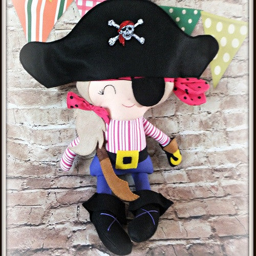 Girl pirate doll