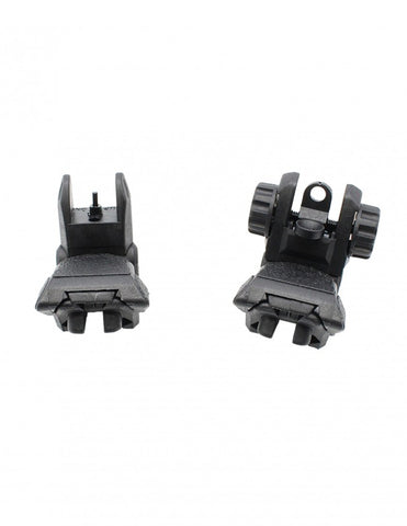 Flip Up Front and Rear POLYMER Sight For AR15 & AR10