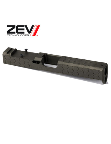 ZEV TECH Hexagon RMR Abs. Co-wit in Ti Gray, Glock 17 Gen 1-3.