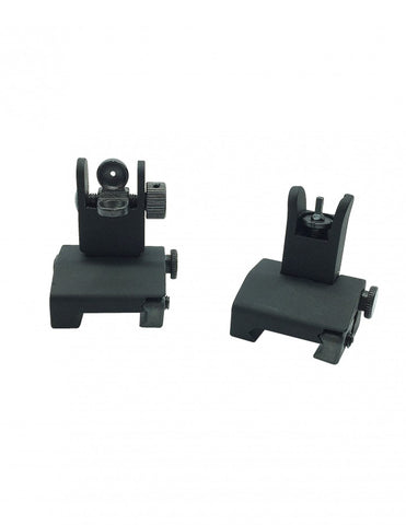 MINI Flip Up Front and Rear Sight For AR15 & AR10