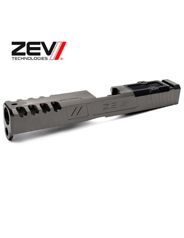ZEV TECH Spartan w/ RMR Abs. Co-wit in Titanium Gray, Glock 17 Gen 1-3.
