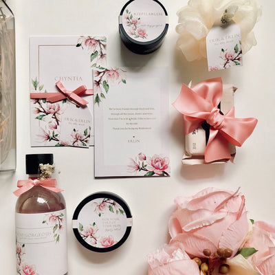 Bridesmaid Floral Giftbox with label (3-8)