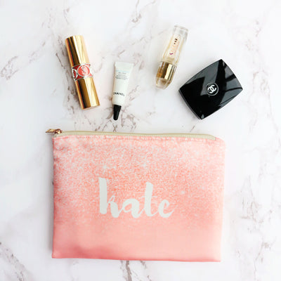 Sweet Coral Personalized Pouch