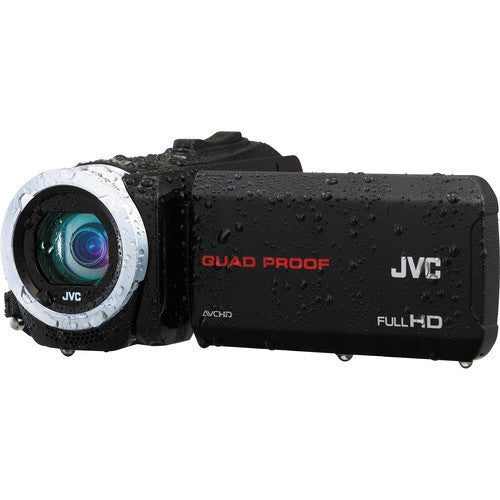 JVC GZ-R50 Quad-Proof HD Black Video Cameras and Camcorders