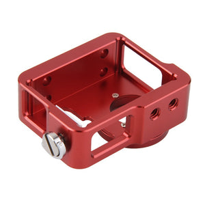 Aluminum Case Cover Red with 37mm UV Filter for GoPro Hero 4